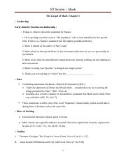 5 The Gospel of Mark Worksheet