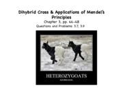 Lecture 5- Dihybrid cross and Application-F'15