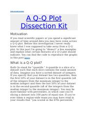 Q-Q Plot and Skewness and Kurtosis.docx