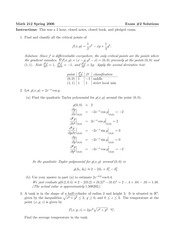 MATH 212 Spring 2006 Midterm 2 Solutions