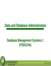 Lesson 10 - Data and Database Administration.ppt