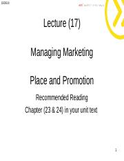 Lecture 6 -  Marketing Place and promotion student.ppt
