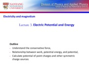 Lect 3-Electric Potential and Energy