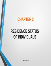 Chapter 2 Resident Status A162.ppt