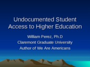 Undocumented Student Access to Higher Education