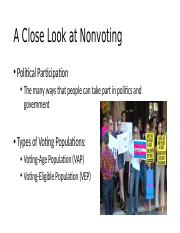 A Close Look at Nonvoting