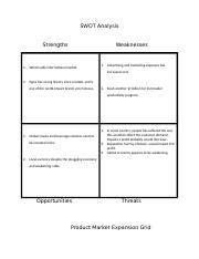 SWOT Analysis and Growth Strategies Charts(1)
