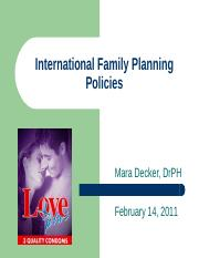 Class 8 International Family Planning Policies.ppt
