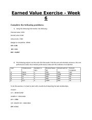 Earned Value Exercise  (3)