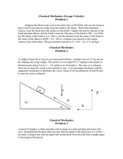 Classical Mechanics Problems