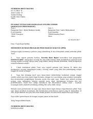 Surat Mohon Bantuan Baik Pulih Atap Dan Siling Rumah Docx Zenah Binti Harun No A 29 Kampung Cegar 35500 Bidor Perak Darul Ridzuan Tarikh 09 November Course Hero