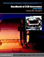 (Cambridge Observing Handbooks for Research Astronomers 5) Steve B. Howell-Handbook of CCD Astronomy