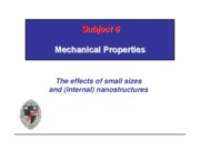 Subject 6 Mechanical properties & more homework questions
