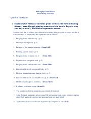 Phiosphy Exam Review
