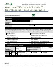 SITXFSA001 Report Incident of Food Contamination.pdf