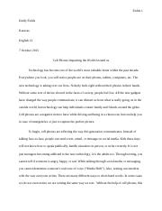 cell phone research paper