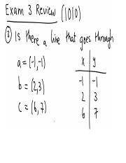 exam3review Solutions
