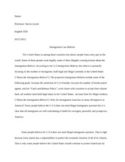 Argumentative Research Essay1 3-4 page
