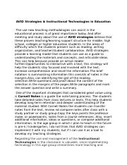 essay -AVID strategies and Instructional Technolog (2)