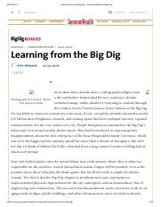 Learning from the Big Dig - CommonWealth Magazine