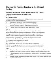 Test Bank For Psychiatric Mental Health Nursing Revised Reprint