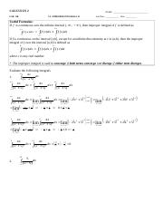 L11B - 7.8 - Improper Integrals 2 - key
