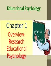 Chapter 1 Overview Educational Psychology.pptx