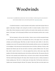 Woodwinds Paper