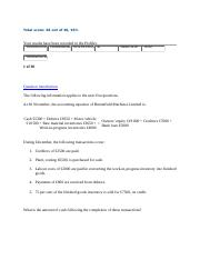 Sample of Typical Accounting Final Exam with solutions