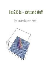 hss2381 - normal distribution part 1.ppt