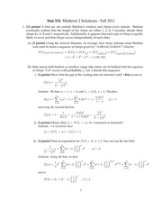 STAT 333 Midterm 2 Solutions