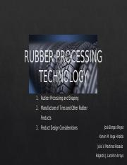 RUBBER PROCESSING