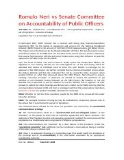 2. Romulo Neri vs Senate Committee on Accountability (March 2008).docx