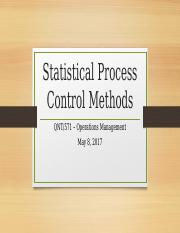 Statistical Process Control Methods
