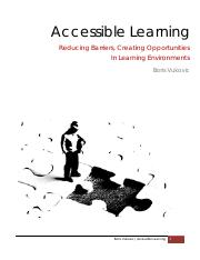 LECTURE 9 - Accessible Learning (Guest Speaker Boris V.)