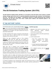 16.4 The EU Emissions Trading System