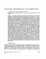 DIELECTRIC BREAKDOWN OF CELL MEMBRANES