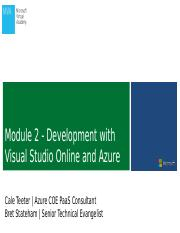 Dev-Test with Visual Studio Online and Microsoft Azure - Development with VSO and Azure.pptx
