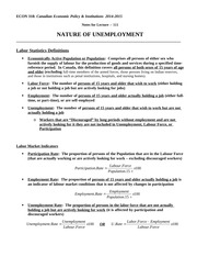 Econ 318_F2014_Chapter_111_F2011_Nature of Unemployment