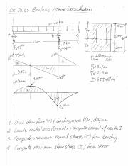 Bending and Shear Stress Problem 1