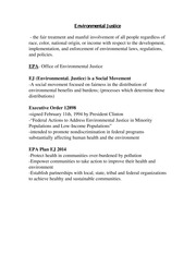 SUST 300 Environmental Justice Notes