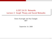 Lecture 2 - Graph Theory and Social Networks