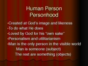 Approach and Characteristic of Personhood