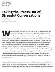 Weeks-Taking the Stress Out of Stressful Conversations-HBR.pdf