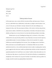 AP English Summer Essay