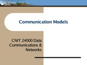 Lecture01 - Communication Models