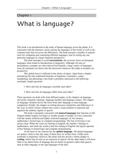 What is Language (Reference)
