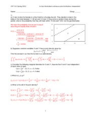 Worksheet continuous joint distribution