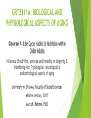 Lecture 4 (Biological & Physiological Aspects of Aging)
