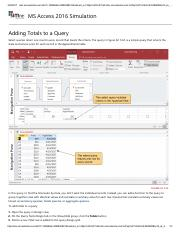 15 - Adding Totals to a Query
